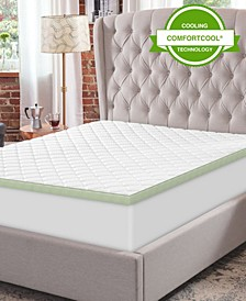 """3"""" Ultimate Cooling Luxury Quilted Bed Topper California King"""