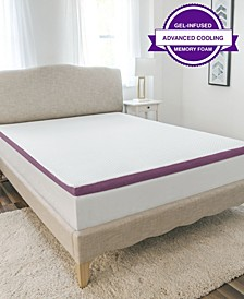 2-Inch Advanced Cool Transcend Memory Foam Bed Topper Collection