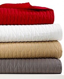 Lacoste Twin Cable Stitch Coverlet