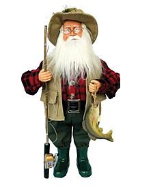 """15"""" Bass Fishing Claus"""