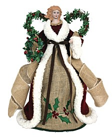 "16"" White Lace Angel Tree Topper"
