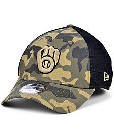New Era Men's Milwaukee Brewers Camo Neo 39THIRTY Cap