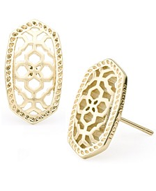 Openwork Oval Stud Earrings