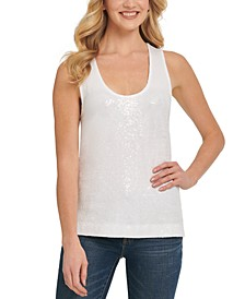 Sleeveless Sequin Top