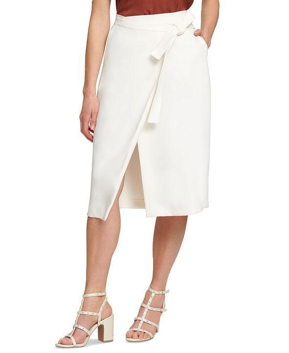 DKNY Faux-Wrap Skirt
