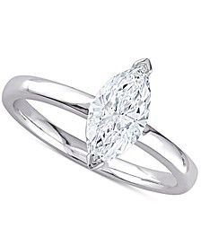 Diamond Marquise Solitaire Engagement Ring (1 ct. t.w.) in 14k White Gold