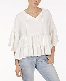 Plus Size Ruffle Tier Woven Top