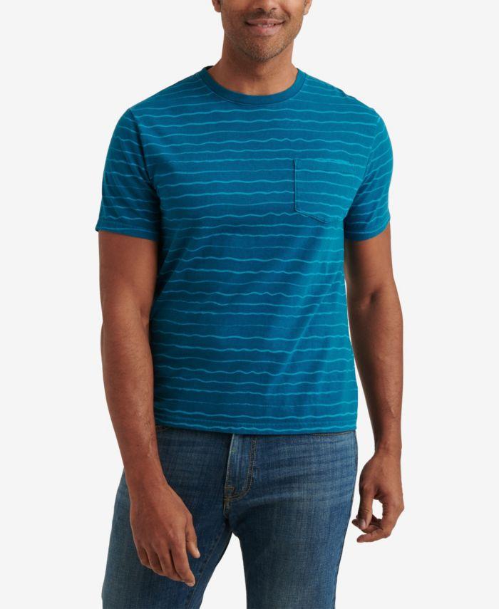 Lucky Brand Men's Short Sleeve Sunset Wave Stripe Crew Neck T-shirt & Reviews - T-Shirts - Men - Macy's