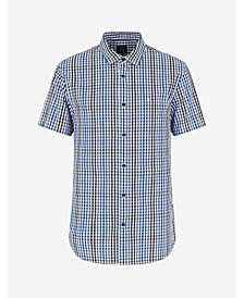 Men's Short Sleeve Plaid Woven Shirt