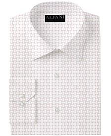 Men's Slim-Fit Performance Stretch Basket Print Dress Shirt, Created for Macy's