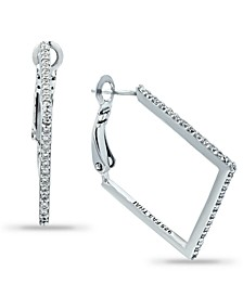 Cubic Zirconia Square Hoop Earrings in 18k Gold-Plated Sterling Silver, Created for Macy's