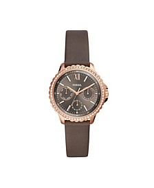 Women's Izzy Brown Leather Strap Watch 35mm