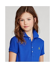 Big Girls Stretch Piqué Polo Shirt