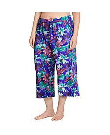Plus Size Cotton Capri Pajama Pants