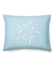 """Julianne Embroidery Throw Pillow, 16"""" X 12"""""""