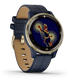 Women's vivoactive 4 Captain Marvel Legacy Hero Blue Silicone Strap Touchscreen Smart Watch 32mm