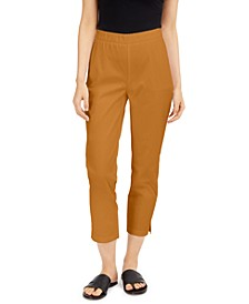 Twill Pull-On Ankle Pants, Regular & Petite Sizes