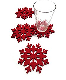 Red Snowflake Coasters, Set of 4, Created for Macy's