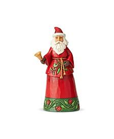 Santa Holding Bell Figurine