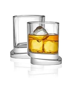Aqua Vitae Off Base Square Whiskey Glasses, Set of 2