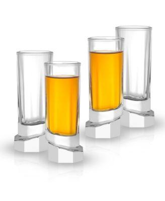 Aqua Vitae Off Base Octagon Shot Glasses, Set of 4