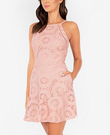 Juniors' A-Line Lace Dress
