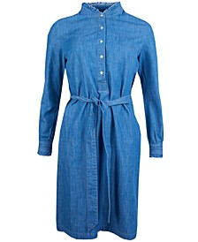Robertshaw Button-Front Belted Dress