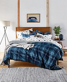 Heartland Plaid Cotton Flannel Reversible Full/Queen Comforter Set