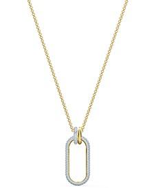 "Gold-Tone Crystal Link Pendant Necklace, 21-5/8"" + 2"" extender"