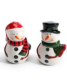 Snowman Figural Salt & Pepper Shaker Set, Created for Macy's