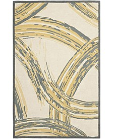 "MSR4733A Gray and Gold 2'6"" x 4'3"" Area Rug"