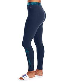Champion Women's Authentic Print-Detail Leggings