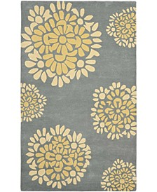 """MSR4730B Gray and Gold 2'6"""" x 4'3"""" Area Rug"""