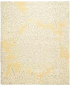 Chrysanthemum MSR4542D Gold 8' x 8' Round Area Rug