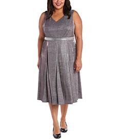 Metallic Fit & Flare Dress