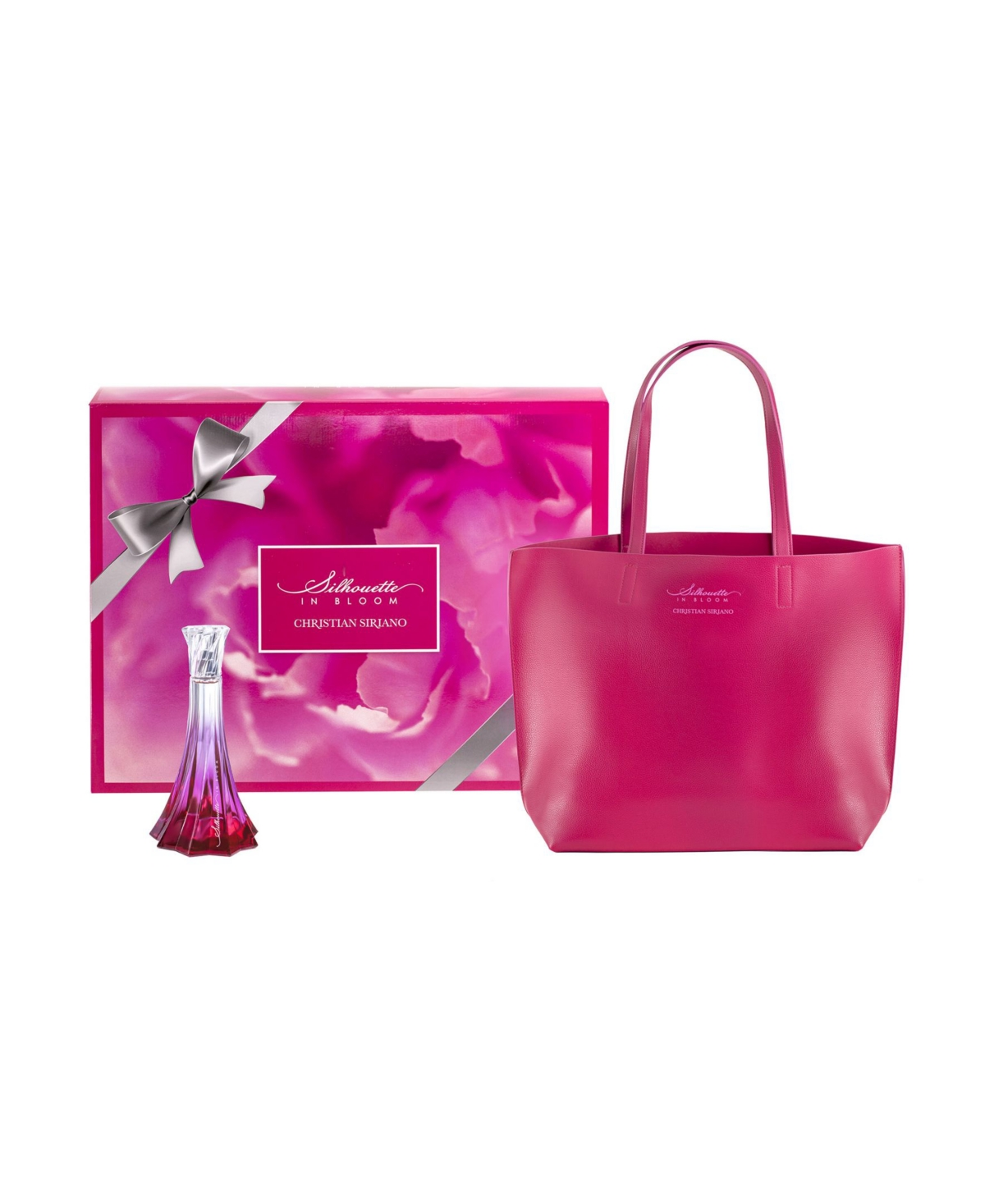 Christian Siriano Silhouette in Bloom Perfume Gift Set for Women with Tote Bag, 2 Pieces
