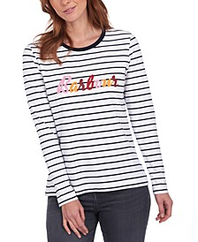 Kielder Cotton Striped T-Shirt