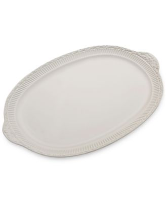 Italian Countryside Handled Oval Platter