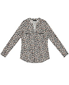 INC Plus Size Printed Zip-Pocket Top, Created For Macy's