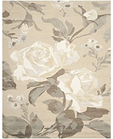 Rose Chintz MSR4717B Gray 9' x 12' Area Rug