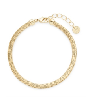 14K Gold Plated Izzy Herringbone Bracelet