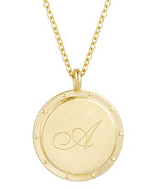 14K Gold Plated Quinn Initial Pendant Necklace
