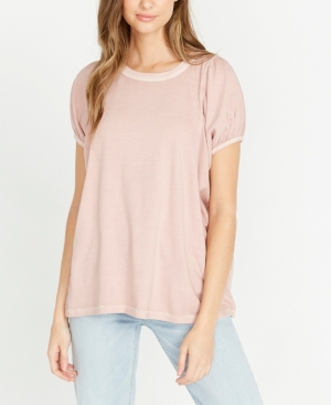 Buffalo David Bitton Juliette Gathered Short Sleeve Top