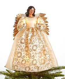 Light Up Glitter Ivory Angel Tree Topper, Created for Macy's