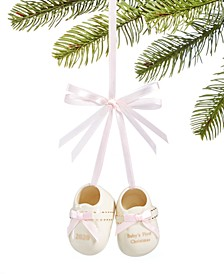Pink baby shoes, Ornament Created for Macy's