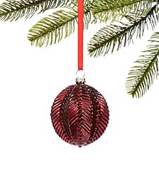 Burgundy & Blush Molded Glass Ornament, Created for Macy's
