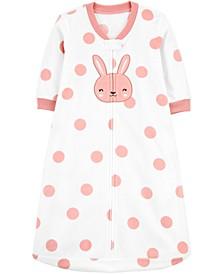 Baby Girls Bunny Rabbit Fleece Sleep Bag