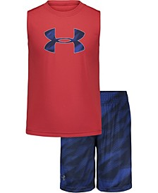 Toddler Boys 2-Pc. Big Logo Velocity Muscle Short Set