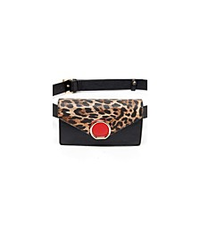 Spotted Broach Belt Bag