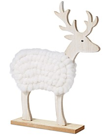 Chalet You Stay, Yarn Deer Decor, Created for Macy's